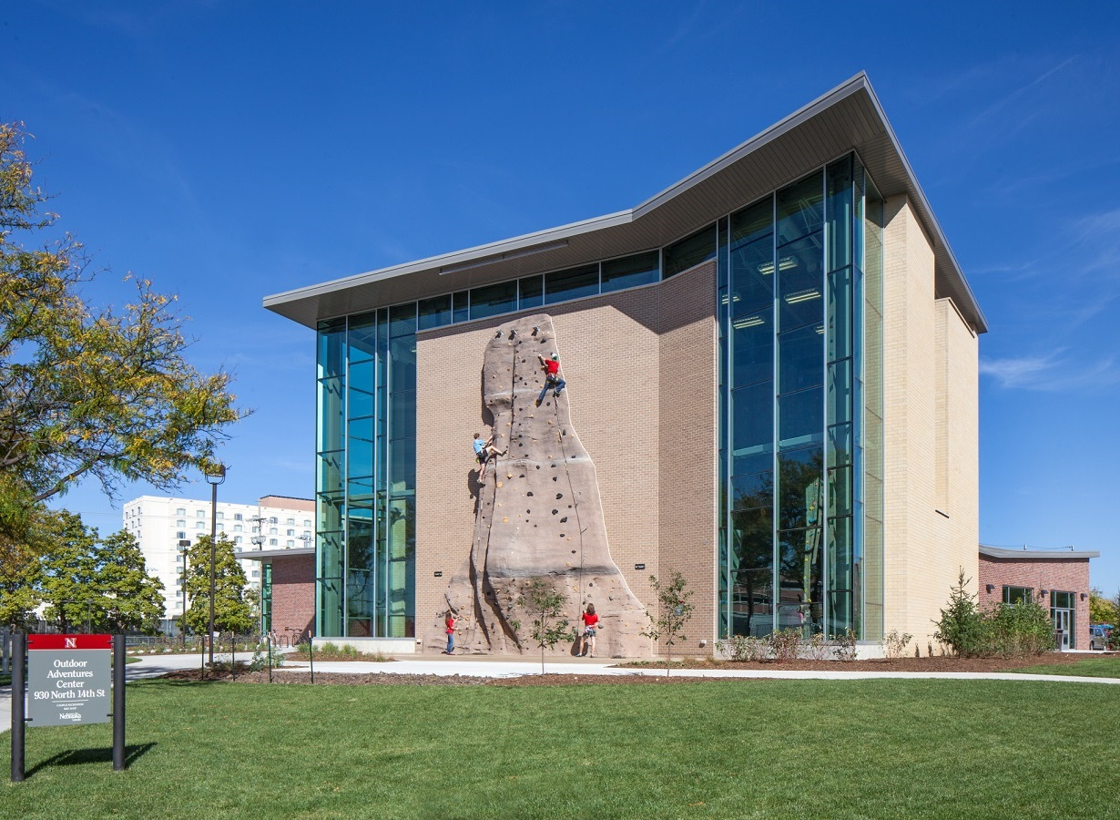 photo by kessler photography exterior climbing wall