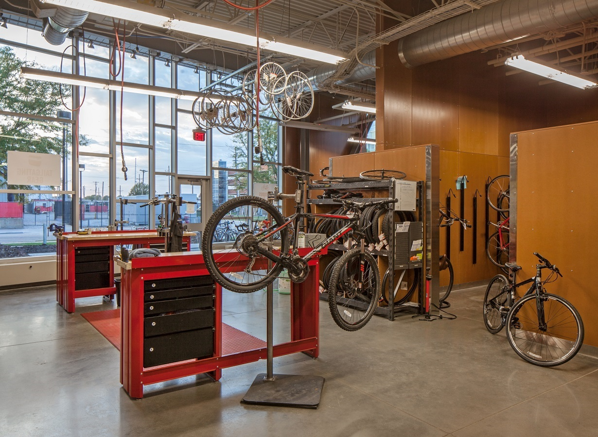 Bikes in bike shop