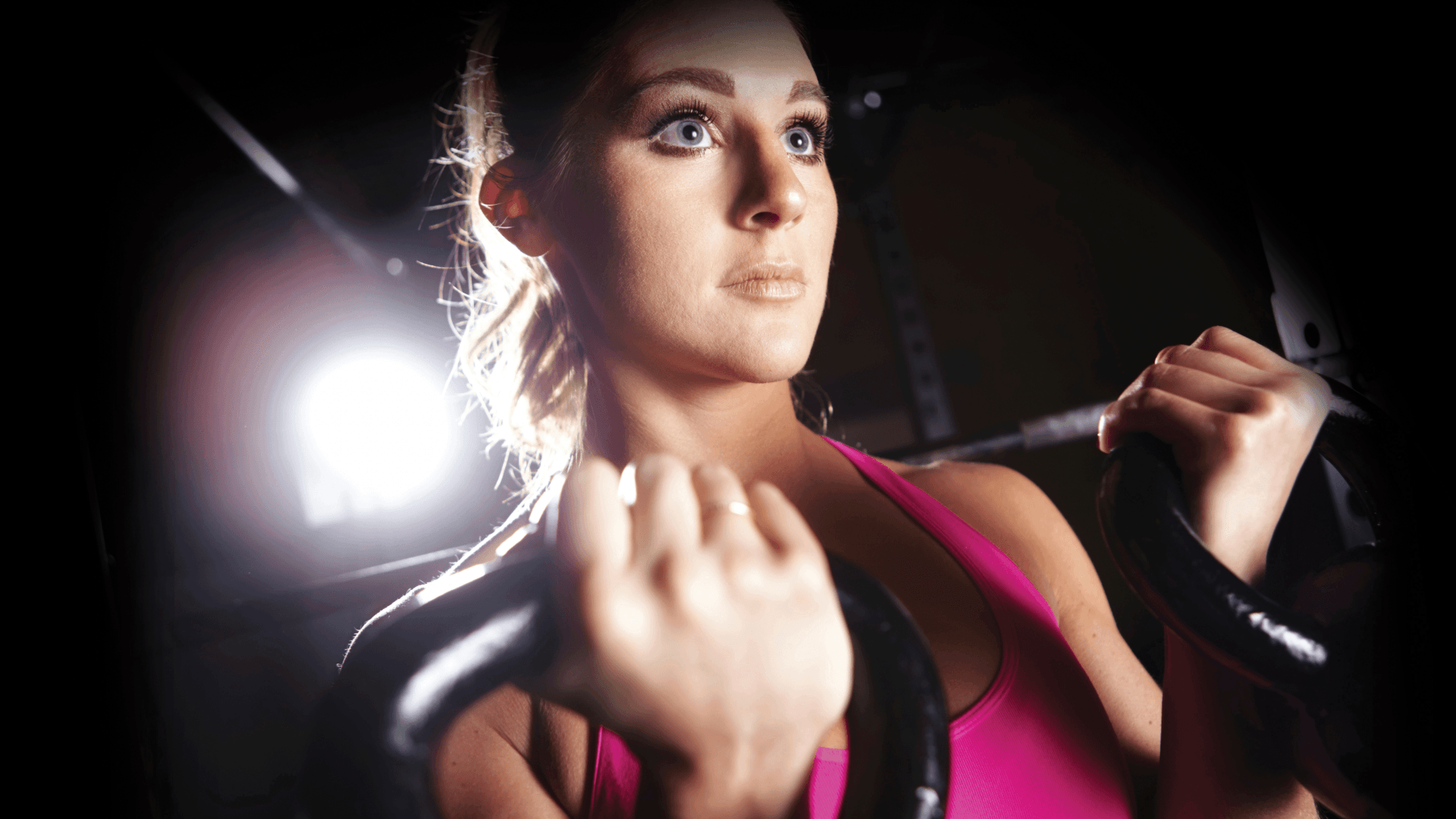 Promotional photo for the Purely Pink event focused on encouraging women to add a strength training program to their regular workouts.